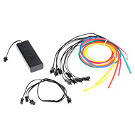 6 Meter Flexible Car Decorative Neon Light 4mm EL Wire Rope with Battery Power Supply