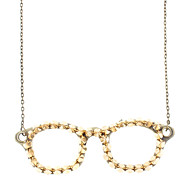 Eyeglass Frame With Rivet Retro Necklace