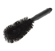 Portable All-cover Circle Type Plastic Brush with Steel Head for Cars