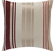 Stylish Red Strip Polyester Decorative Pillow Cover