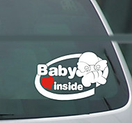 Angel Baby In Car Pattern Car Decorative Sticker