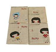 Curtilage de patrón femenino Notebook (colores aleatorios)