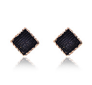Fashion Gold Plated Square Beads Earrings