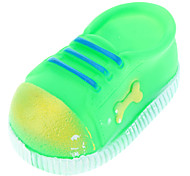 Cute Bone Pattern Squeaky Soft Plastic Pet Shoes Toy for Dogs (Random Color)