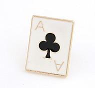 Banhado a ouro Alloy Acrílico Pôquer Plum Blossom Padrão Broche