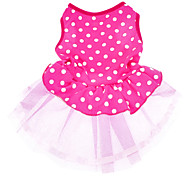 Dog Dress Pink Dog Clothes Summer Polka Dots Wedding Fashion