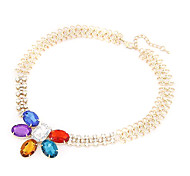 Golden Choker Necklaces Party Jewelry