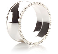 Conjunto de 4 Luxury Design moderno liga de zinco Anel Guardanapo