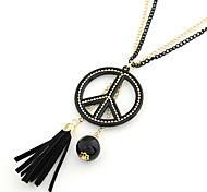 Fashionable Anti-war Pendant Tassels Necklace