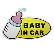 Lovely Baby In Car Pattern Car Decorative Sticker