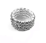 Ring Fashion Party Jewelry Alloy / Rhinestone Women Band Rings 1pc,One Size Silver / White