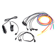 6 Meter Flexible Car decorativo Neon Light 4mm EL Wire Rope Car Inverter con luz