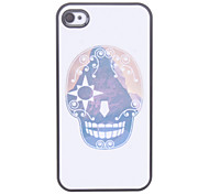 Cartoon Skull modello Custodia rigida per iPhone 4/4S