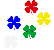 Four-leaved Clover Pattern Car Decorative Sticker (6-Piece)