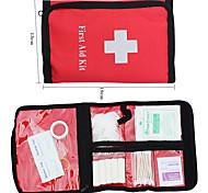 Nylon portátil pacote de primeiros socorros (vermelho)