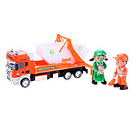 1:42 Sanitation Cleaning Truck Model with 2 Dustmen (Assorted Colors, Model:0783-30)