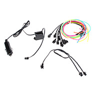 3 Meter Flexible Car Decorative Neon Light 2.3mm EL Wire Rope with Car Light Inverter