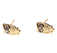 The Owl Metal Diamond stud Earrings