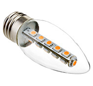 Luces LED en Vela Decorativa Eastpower C35 E26/E27 3W 16 SMD 5050 180 LM Blanco Cálido AC 100-240 V