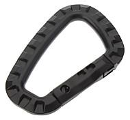 Di grandi dimensioni a forma di D in plastica Materiale moschettone (nero)