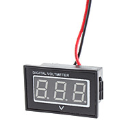 "V40D Dual-Wire 1.2"" LED 3-Digital DC Voltmeter Module w/ Reverse Voltage Protection - Black (3~30V)"