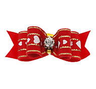 Cute Love Pattern Bowtie Hair Accessory with Rubber Band for Dogs