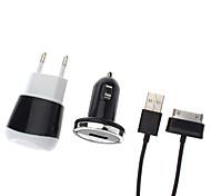 3-in-1 oplader, auto-oplader en kabel voor Samsung Tab P1000
