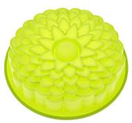 girassol em forma de silicone molde do bolo