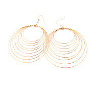 Alloy Multi-circle Pattern Earrings(Assorted Colors)