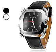 Men's Wrist Style PU Analog Quartz Watch (Assorted Colors)