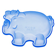 Pig Shaped Silicone Cake Mould (random color)