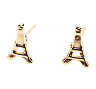 The Eiffel Tower Personality Metal Small Stud Earrings
