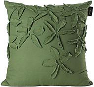 Ropa de funda de almohada decorativa verde bordado 3d