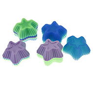 Star Shaped Colorful Silicone Mini Cupcake Mould (20pcs)