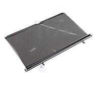 Punto patrón del frente del coche ventana cortina de Sun Roller Blind protector de la pantalla (58 x 125 cm)
