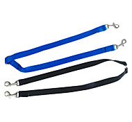 Dog Leash Dual/Double Black / Blue Nylon