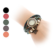 Women's Watch Bohemian Butterfly Pendent Multilayered Leather Bracelet