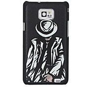 Cool Man Pattern Hard Case for Samsung Galaxy 2 I9100