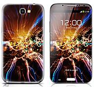 SX-112 Relámpago patrón frontal y traseras del protector Pegatinas para el Samsung Galaxy Note N7100 2