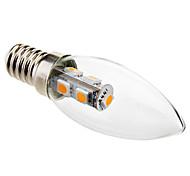 Lampandine a candela 7 SMD 5050 Eastpower C35 E14 1 W Decorativo 70 LM Bianco caldo AC 220-240 V