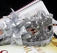 Deluxe Blossom PVC Venetian Half Face Mask