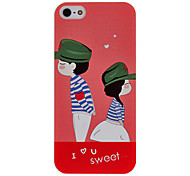 Chinese Sweet Couple Pattern Hard Case for iPhone 5/5S