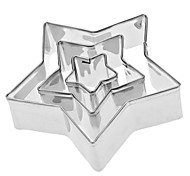 Five-Pointed Star Shaped Stainless Steel Cookie Cutters Set (3-Pack)