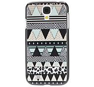 Mint Green Geometrische Patroon Hard Case voor Samsung Galaxy S4 I9500