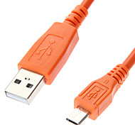 Micro USB to USB Male to Male Cable for Telephone Dark Orange (1M)