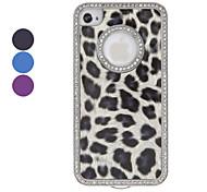 Diamond Frame Leopard Print Hard Case für iPhone 4/4S (verschiedene Farben)