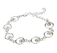 Circular Diamond Silver Bracelet
