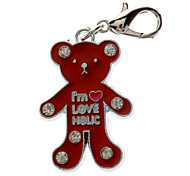 Cat / Dog Tag Red Metal