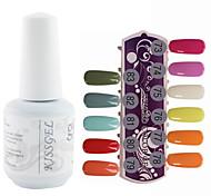 YeManNvYou®1PCS Sequins UV Color Gel Nail Polish No.313-324 Soak-off(15ml,Assorted Colors)