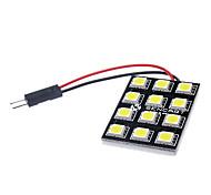 BA9S/Festoon/T10 6W 12x5060SMD 500-520LM LED White Light Car Brake Lamp (12V)